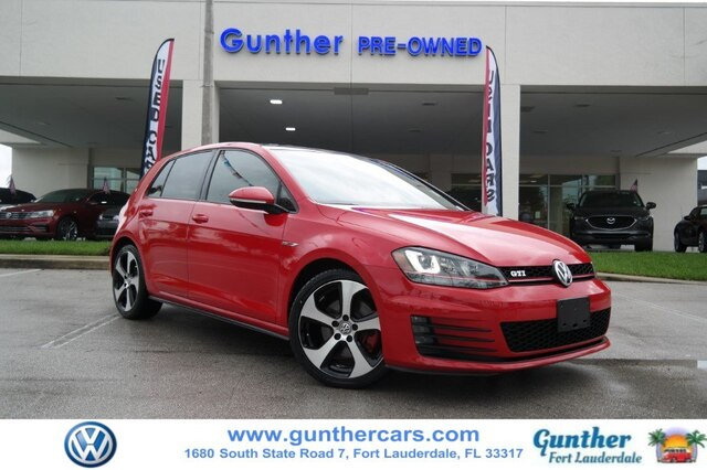 Pre-Owned 2015 Volkswagen Golf GTI 2.0T Autobahn 4-Door